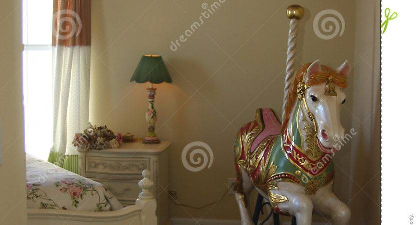 Young Girls Bedroom Carousel Horse
